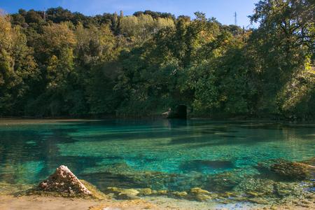 Idyllic landscape with river Nera in Umbria Zdjęcie Seryjne
