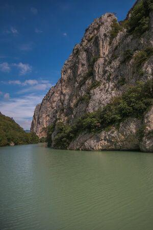 View of Furlo gorge in the marche region