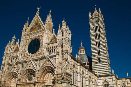 Beautiful view of Santa Maria Assunta Siena cathedral in tuscany