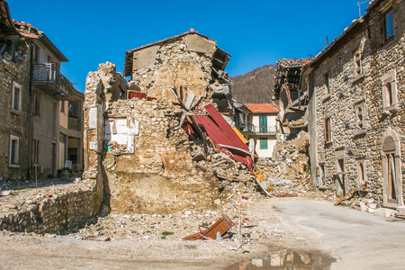 The effects of earthquake of central italy