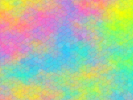 Mosaic on rainbow background or pattern Imagens