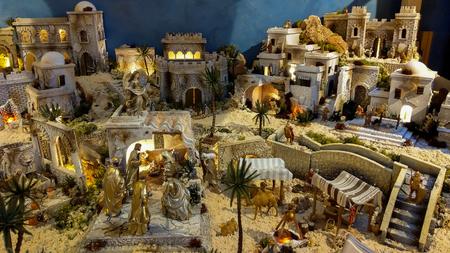 Detail of nativity scene for christmas time