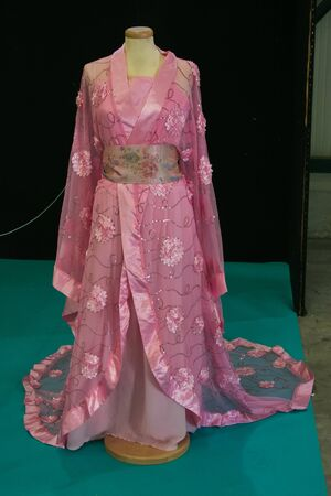 Traditional Japanese clothing. Kimono was once worn on a daily basis by most Japanese people