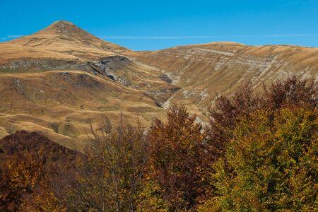 Autumn view of Monti della Laga in Abruzzo