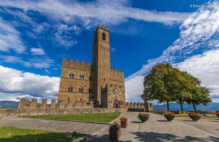 The public monument to visit the Castle of Poppi Tuscany Italy