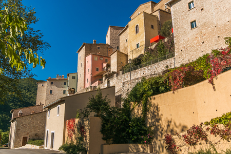 View of medieval village of Postignano in the heart of Valnerina, Umbria