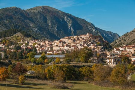Beautiful view of Villalago in Abruzzo