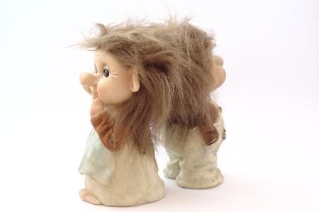 troll dolls: Danish troll dolls (close up)