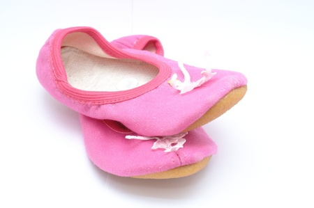 Pink ballet shoes for girls