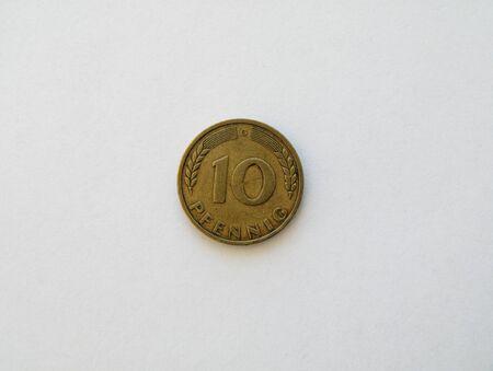 Ten pfennig coin