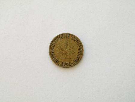Ten pfennig coin Stock Photo - 15087774