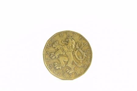 czech republic coin: 20 czech crowns Stock Photo