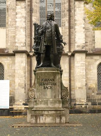 Johann Sebastian Bach Memorial in Leipzig, Germany
