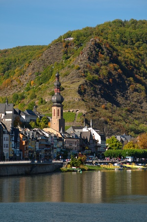 View on Cochem city in Germany on a sunny day photo