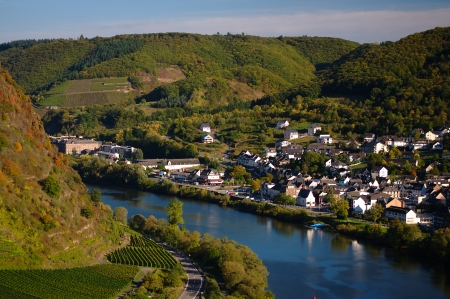 View on Cochem city in Germany on a sunny day