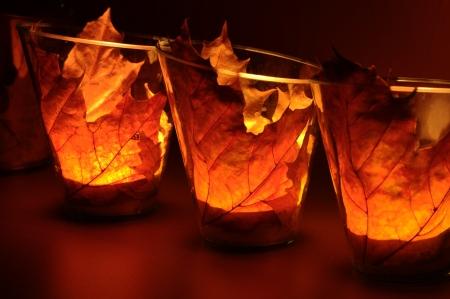 Leaf lantern as decoration