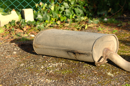 carbondioxide: Very rusty exhaust from a car