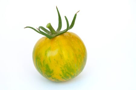 Green Zebra tomato close up