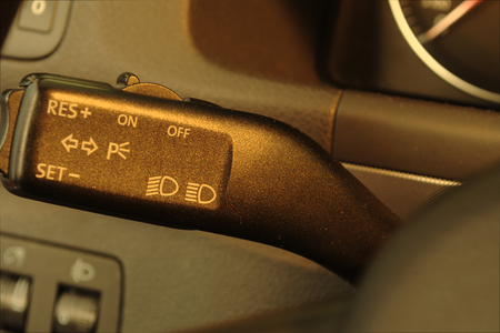 Worn car interior Stock Photo