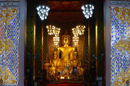 Wat Phra That Hariphunchai temple in Lamphun, Thailand.