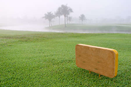 Golf sign in green golf course. Stockfoto