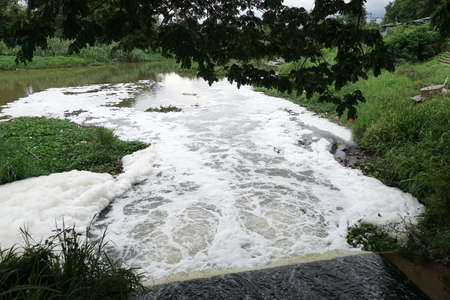 Close to Water pollution Environment in Asia.