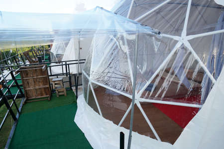Close to Geodesic dome camping Tents in Asia.
