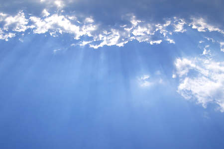 The Sky and Cloud with Ray light for Background.