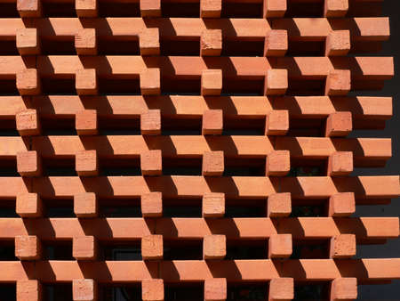 Red Bricks wall Pattern for Background.