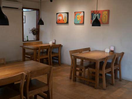 Beautiful corner in coffee shop. Archivio Fotografico