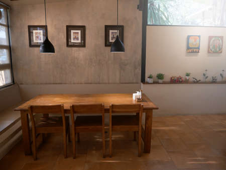 Beautiful corner in coffee shop. Editoriali