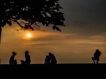 manila: Sunset in Manila Bay Stock Photo