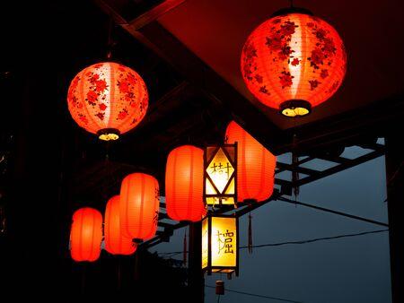 chinesse: Lotus Lantern at Taiwan Stock Photo