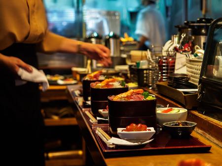 tuna mayo: japanese restaurant and food Stock Photo