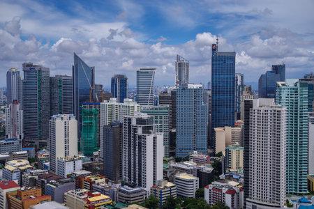 Metro Manila Philippines Skyline view Editorial