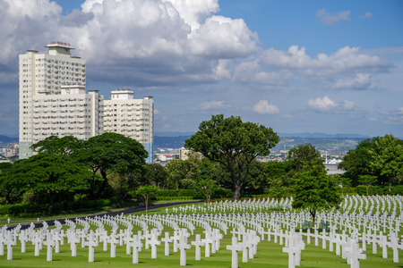 Manila American Cemetery, Metro Manila, Philippine Editorial