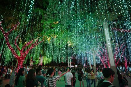 Light and Sound Show at Ayala Triangle Garden Makati, Manila, Philippines Editorial