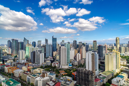 Skyview in Manila, Filipijnen Stockfoto