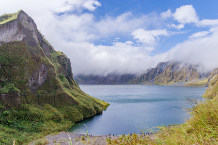 crater lake: Mountain Pinatubo Crater Lake