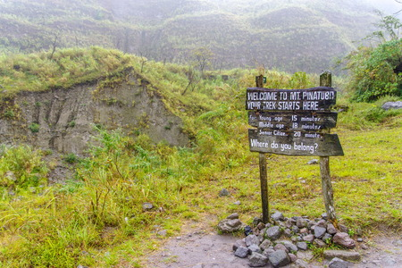 crater lake: Mountain Pinatubo Crater Lake trekking