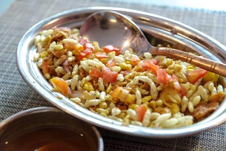pakistani food: India savoury snack -Bhel puri