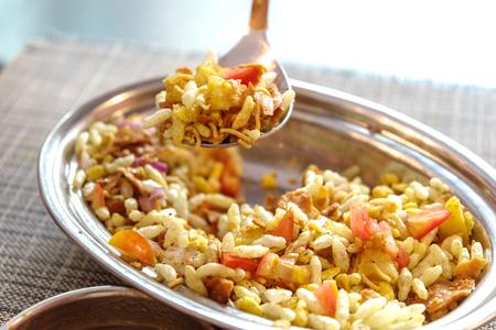 puri: India savoury snack -Bhel puri