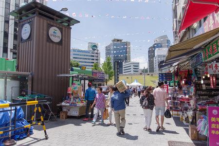 26: May 26,2016 at the entrance of Namdaemun Market , Seoul, South Korea