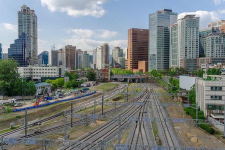 26: May 26,2017 Seoul station railway, Seoul , South Korea Editorial