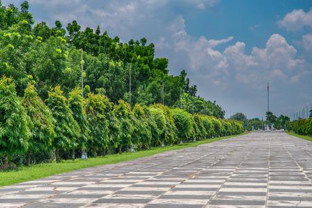 Julio 1,2017 en Capas National Shrine, Capas, Filipinas - para conmemorar a los soldados aliados que murieron en Camp O'Donnell al final de la Marcha de la Muerte Bataan durante la Segunda Guerra Mundial