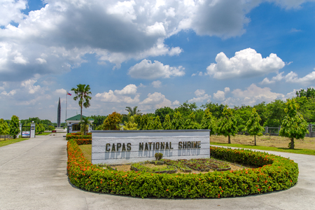 solider: Capas National Shrine, Capas, Philippines - for memorial to Allied soldiers who died at Camp ODonnell at the end of the Bataan Death March during the Second World War