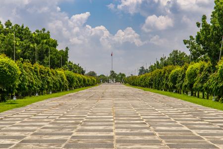 Julio 1,2017 en el Capas National Shrine, Capas, Filipinas - para el monumento a los soldados aliados que murieron en el Campamento O'Donnell al final de la Marcha de la muerte de Bataan durante la Segunda Guerra Mundial
