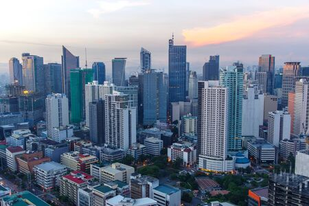 makati city skyline view, philippines Editorial