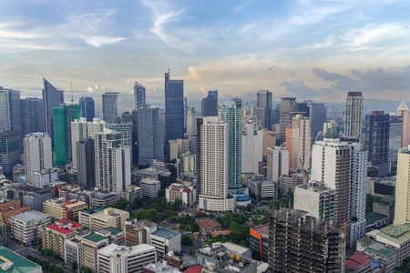 makati city skyline view, philippines Stock Photo