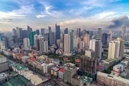 makati city skyline view, philippines 스톡 콘텐츠
